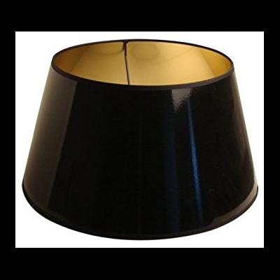 Abat-Jour ROND Laqué Noir/Or Ø 30 cm