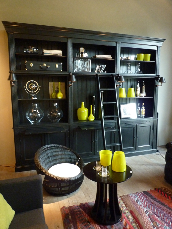 biblioth que balmore flamant 3 parts noire villa demeure paris. Black Bedroom Furniture Sets. Home Design Ideas