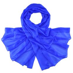Etole Soie Bleu Roi Uni
