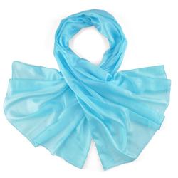 Etole Soie Bleu Turquoise Uni