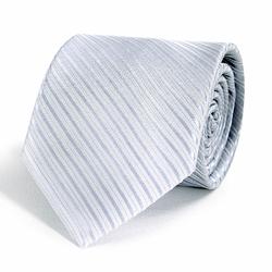 Cravate Gris Argent Faux-uni