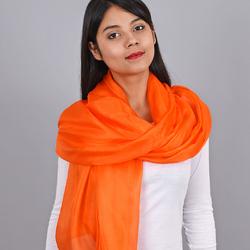 Etole Soie Orange Uni
