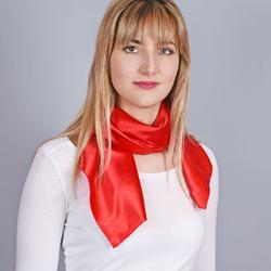 Foulard carré Aléa Rouge