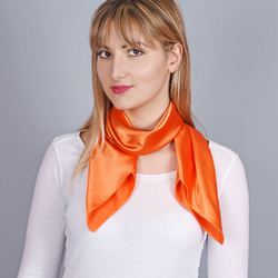 Foulard carré Aléa Orange