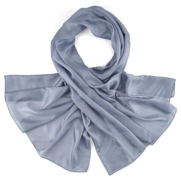 Etole-soie-grise-argent-hotesse-AT-02850-F16