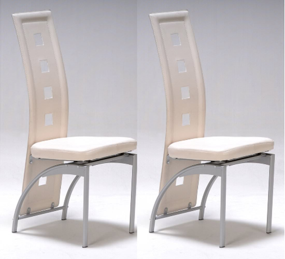 lot de 2 chaises design ivoire - Chaise De Salon Design