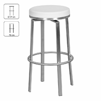 Tabouret rond DURABLE blanc