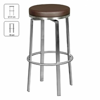 Tabouret rond DURABLE brun