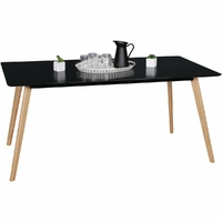 Table rectangulaire SCANIO 160x90 en MDF noir