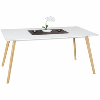 Table rectangulaire SCANIO 160x90 en MDF blanc
