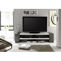Meuble TV  design moderne 170 cm Jamie blanc mat / decor beton