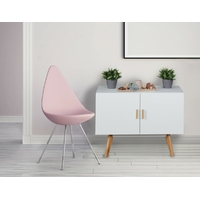 Commode SCANIO 90 cm en MDF blanc