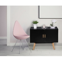 Commode SCANIO 90 cm en MDF noir