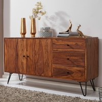 ROMEO  Buffet Commode  Bois Massif Sheesham, 140 cm