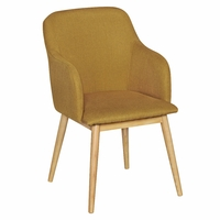 Chaise LIMA style scandinave Tissu Jaune Curry