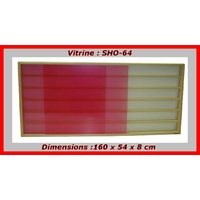 Vitrine murale de collection pour miniatures. 160x54cm