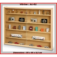 Vitrine miniature pour collection de trains, de voitures, de figurines