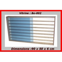 Vitrine murale Bo-002 pour miniature collection train-voies N