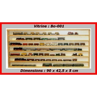 Vitrine murale Bo-001 d'exposition pour miniature collection train auto