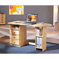 Bureau informatique TOUCH ROUND en pin massif