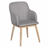 Chaise LIMA style scandinave Tissu Gris clair