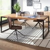 Table Repas Style Industrielle Bois Massif  Sheesham