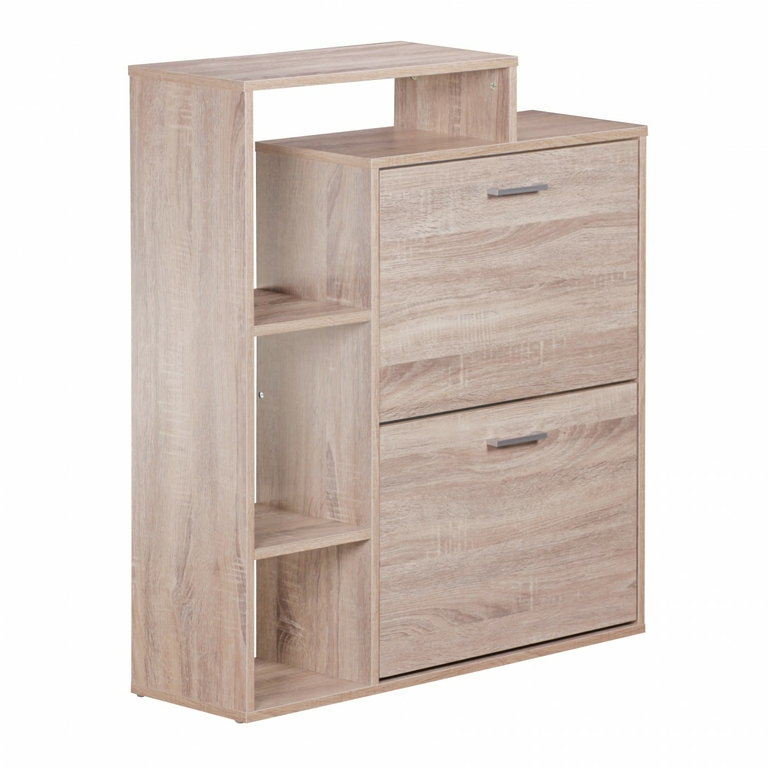 meuble chaussures samo avec 2 porte et tag re en mdf couleur ch ne sonoma meubles de. Black Bedroom Furniture Sets. Home Design Ideas