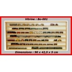 Vitrine murale d'exposition pour miniature collection train auto