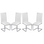 Lot de 4 chaises design contemporaine Montana