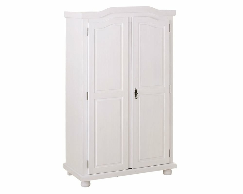 armoire de rangement penderie 2 portes en pin massif hedda meubles de chambre. Black Bedroom Furniture Sets. Home Design Ideas