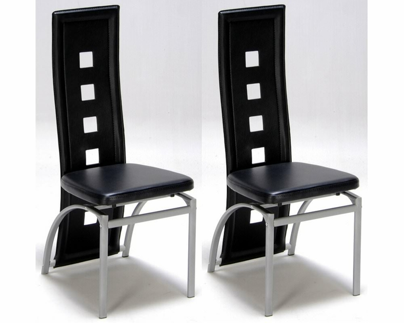 lot de 2 chaises design noir meubles de salon. Black Bedroom Furniture Sets. Home Design Ideas