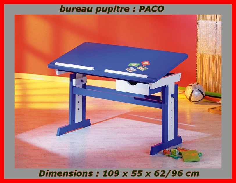 pupitre enfant bureau pupitre pour ecolier et enfants en bois pin. Black Bedroom Furniture Sets. Home Design Ideas