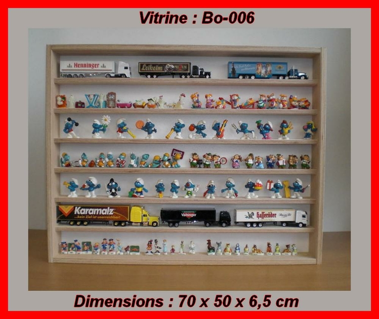 vitrine de collectionneur en bois pour miniature de collection. Black Bedroom Furniture Sets. Home Design Ideas
