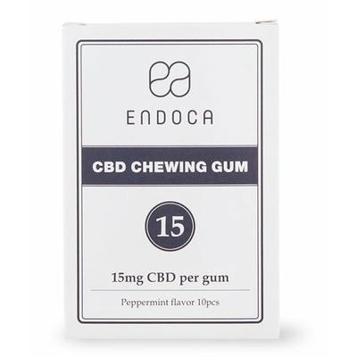 Chewing gum biologique au CBD - 15 mg
