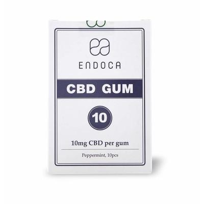 Chewing gum biologique au CBD - 10 mg