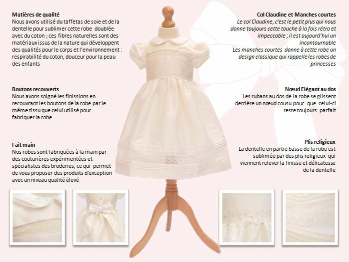 c44e90fb281c7 Nous avons utilisé du taffetas de soie et de la dentelle pour sublimer  cette robe doublée avec du coton   ces fibres naturelles sont des matériaux  issus de ...