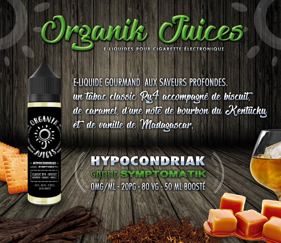 Eliquide Organik Juice HYPOCONDRIAK 60ML