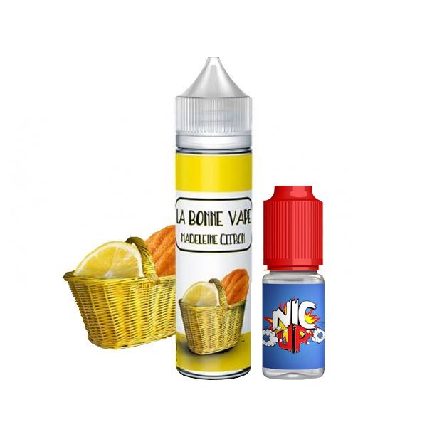 Madeleine Citron 0mg 50 ml + Booster 10ml - La Bonne Vape