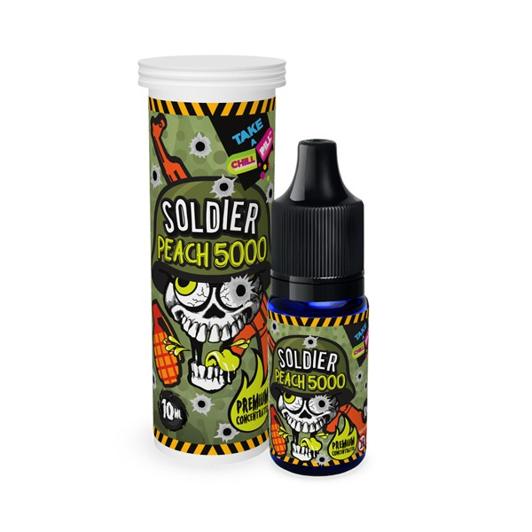 Concentré Soldier Peach 5000 10ml - Chill Pill