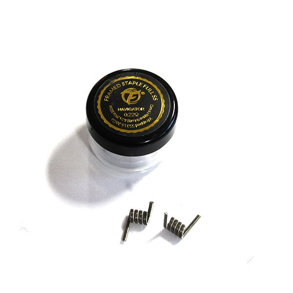 Framed Staple Full SS316 0.22Ω (2pcs) - Fumytech