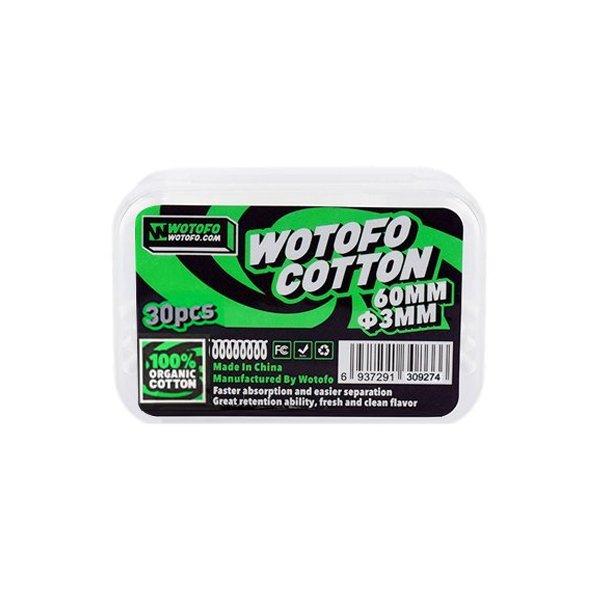 Coton bio avec aglet 3mm (30pcs) - Wotofo