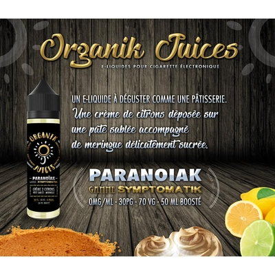 Eliquide Organik Juice PARANOIAK 60ML