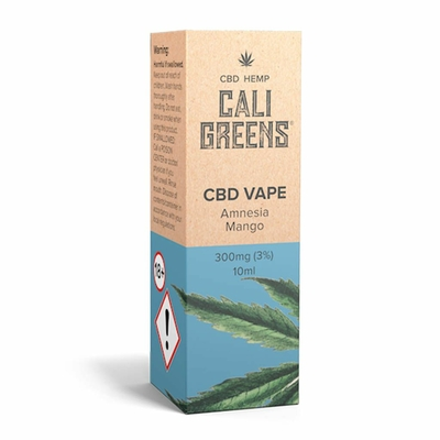 Cali Greens Vape Amnesia Mango 10ml CBD E-Liquid - 300mg