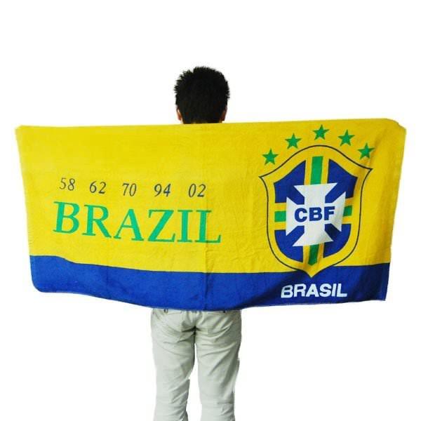 Serviette de Plage Football Brésil