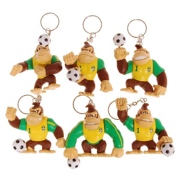 Porte Clé Donkey Kong Football Brésil (Lot de 6)