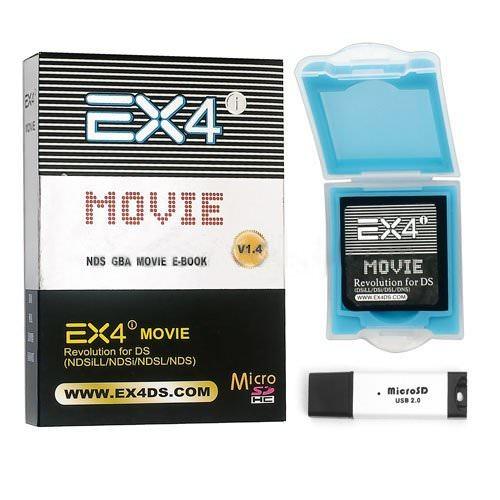 EX4i Movie pour DS / DSi / DSi LL (XL) Compatible Version 1.4