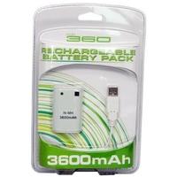 Batterie 3600 mAH + Câble USB pour Manette Xbox 360