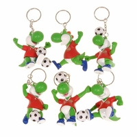 Porte Clé Yoshi Football Manchester United (Lot de 6)