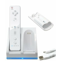 Chargeur Double BlueLight pour WiiMote + 2 Batteries 2800mAh