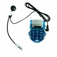 Mini Téléphone Fixe avec Pavé Numérique + Oreillette + Micro Filaire